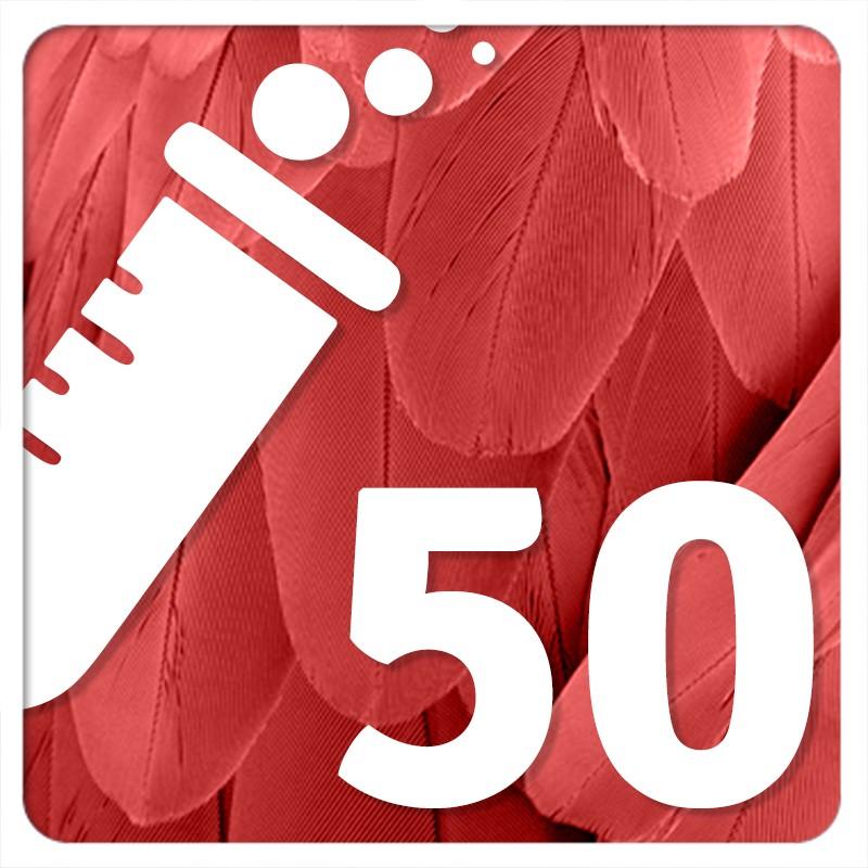 50 PBFD (circovirus aviar)