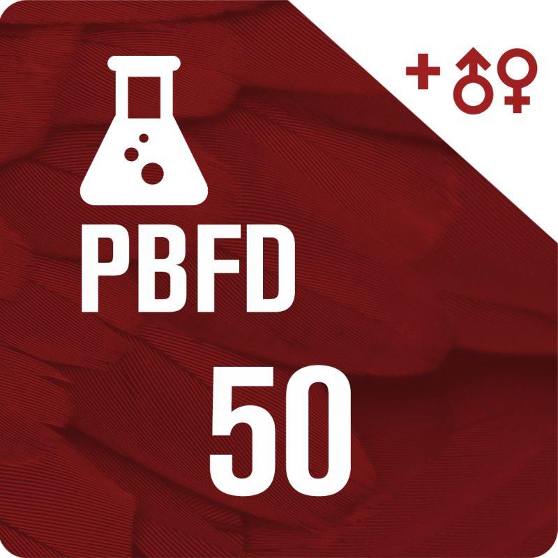 50 Sexados por ADN + PBFD