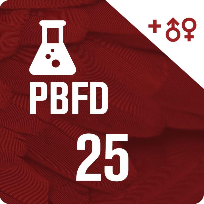 25 Sexados por ADN + PBFD