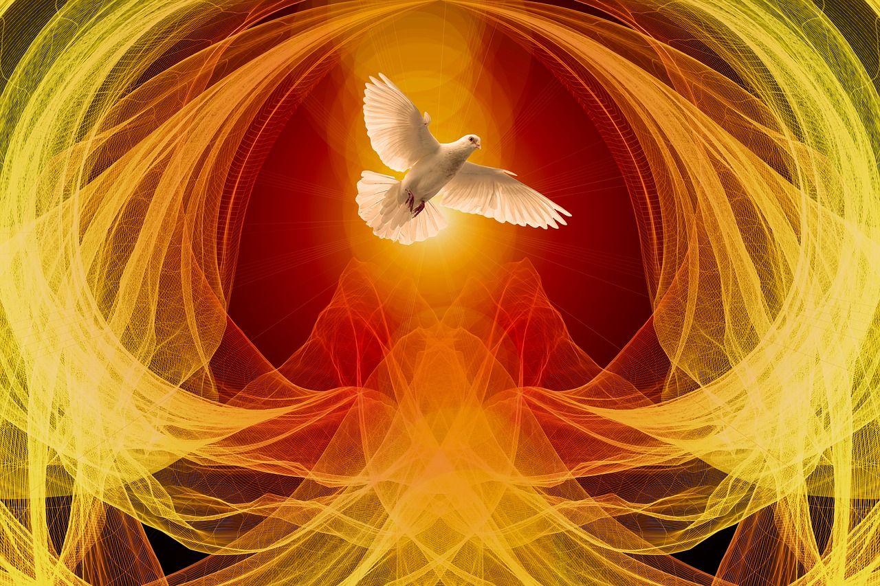 aves mitológicas. Espiritu Santo