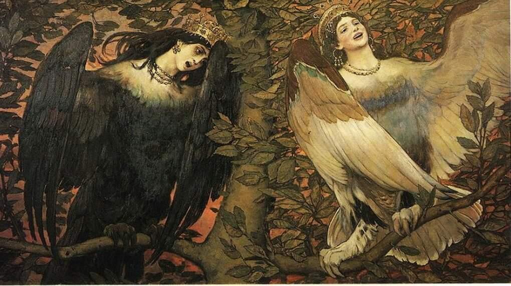 aves mitológicas. Sirenas